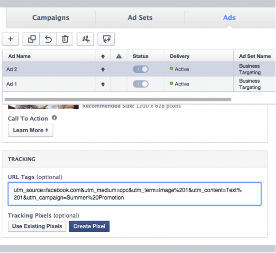 What's the best way to track conversions from Facebook
