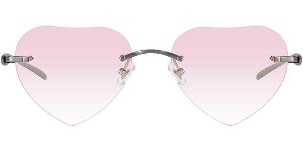 6b7f2229c9 The chic heart shape glasses with tinted lenses make this look trendy and  youth. These rimless eyeglasses designer and heart-shaped lenses make  people who ...