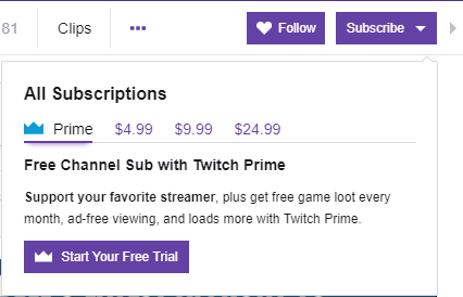 how to get a free twitch prime sub to someone
