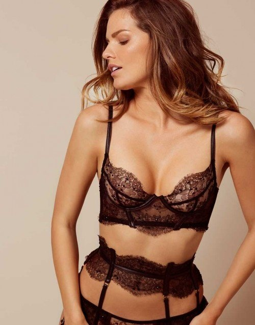 through see Wife panties in lingerie