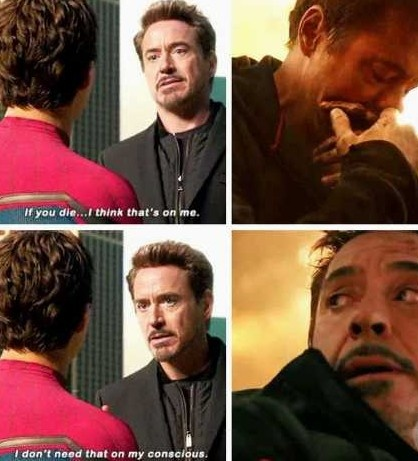 what evidence is there that tony stark cared about peter