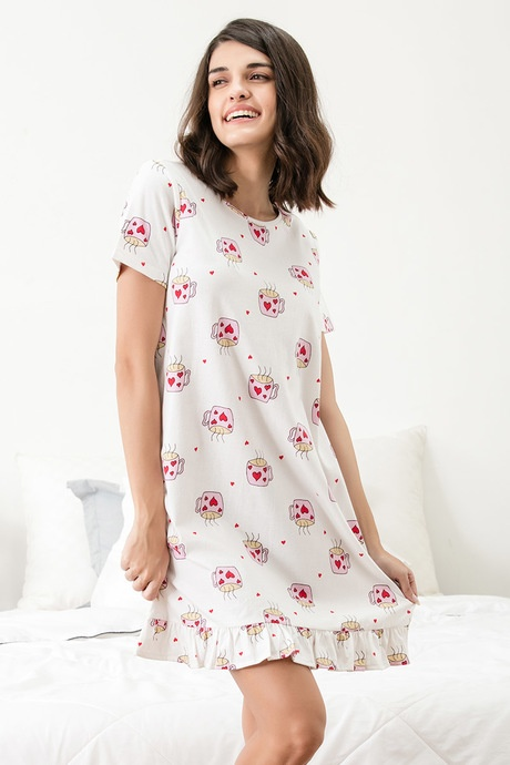 Ladies nighty comes in various fabric materials like cotton 547aa7bc8
