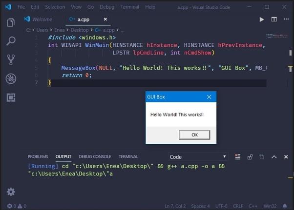 Can I make a GUI using Visual Studio code? - Quora