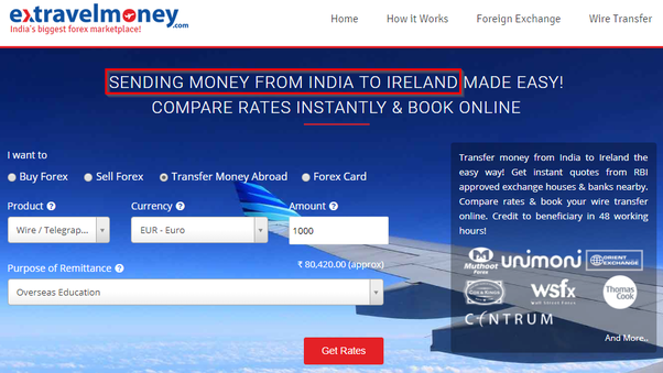What Is The Est Way To Send Money Ireland From India
