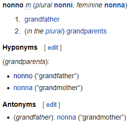 In My Language I E Italian The Word Nonni Means Both Collectively Grandpa And And Grandma No Matter Which Parental Side And Grandfathers Respectively By Mom S Or Dad S Which Is Your Language Does