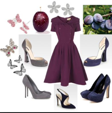 Plum Is A Really Vibrant Color So Better Combine With Grey Black White Or Deep Colors On The Same Dark Palette