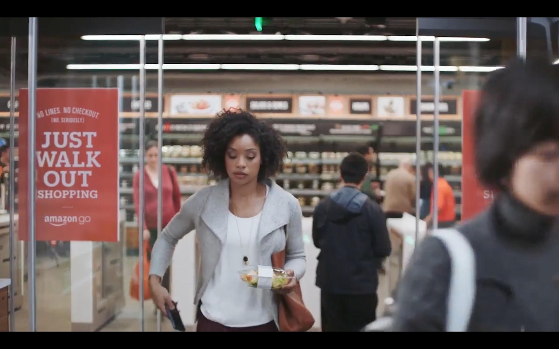 ad133f0ebd Specimen  Of a customer leaving the Amazon Go retail store.