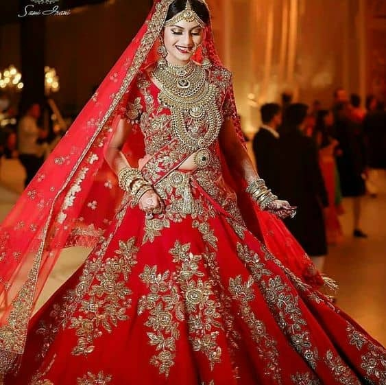 8c6f64aab68f Which is the best color for lehenga in wedding? - Quora