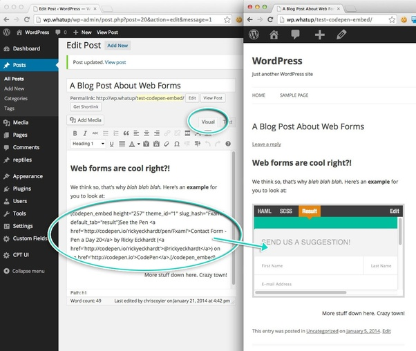 Can I make a codepen io clone website with WordPress and