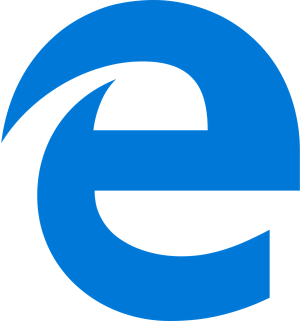 Where can I find the Microsoft Edge logo in my computer so