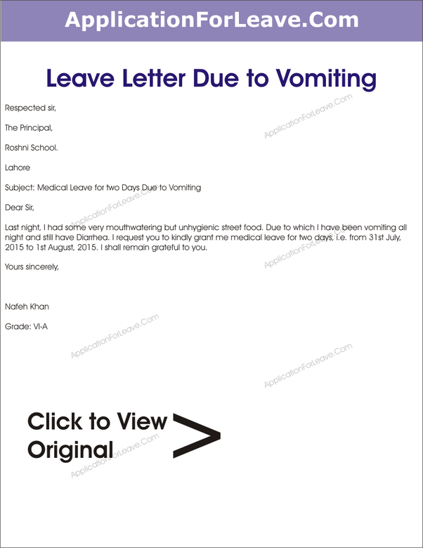How to write an excuse letter for being absent in school due to a stick to a simple formal letter like this spiritdancerdesigns Gallery