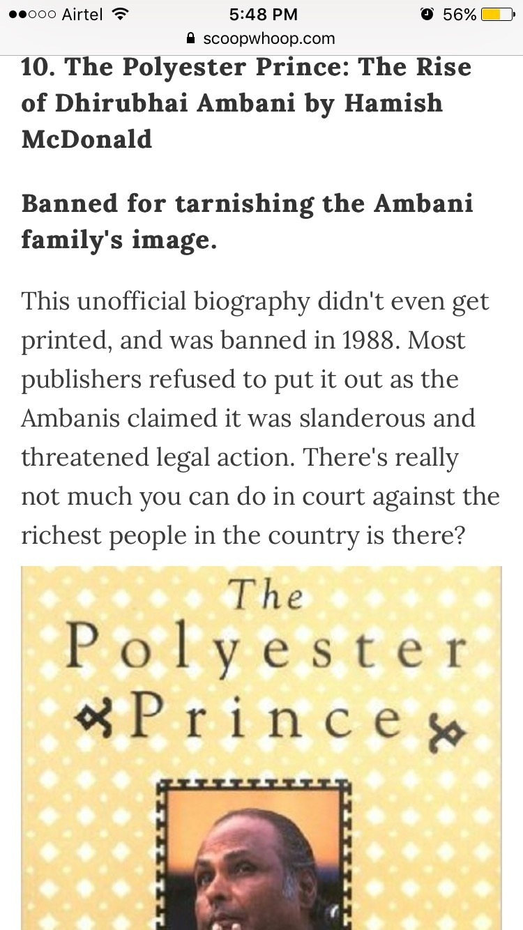 What is your review of 'The Polyester Prince' (a biography
