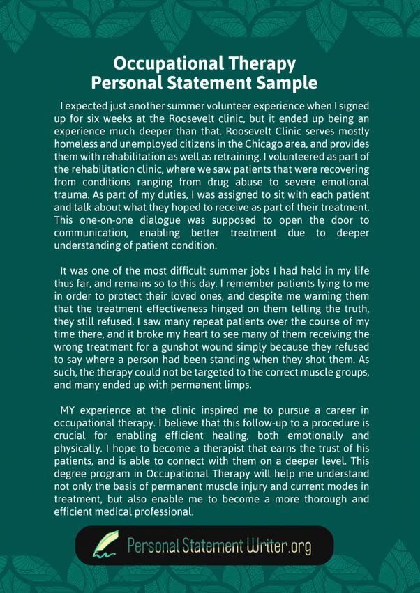 Public health admissions essay