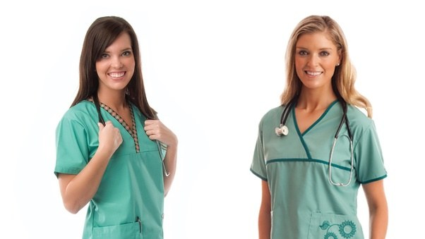 Many Of Staff Members In Hospitals Nationwide Wear Colored Uniform Scrubs To Identify Their Job Title Or Occupation Occupational Therapists Use Special