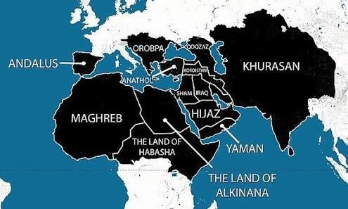 Can isis target india in the future quora for better understanding the map below showcases the area that they want to claim for their caliphate gumiabroncs Image collections