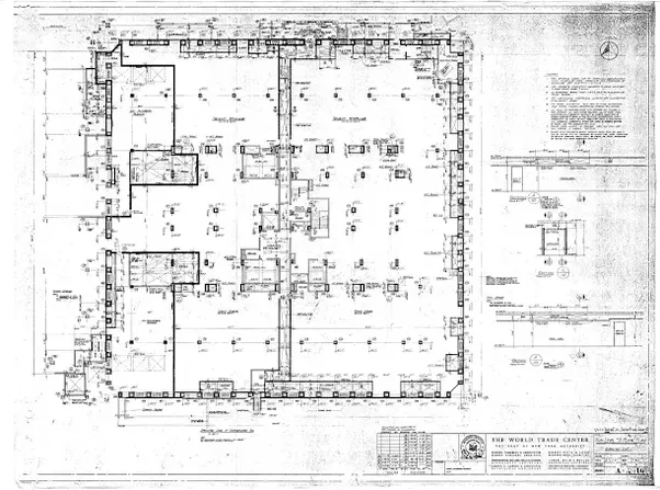 How would someone go about getting blueprintsfloor plans of an for famous buildings many of them have been published in architectural magazines for instance the north tower of the late world trade center malvernweather Image collections