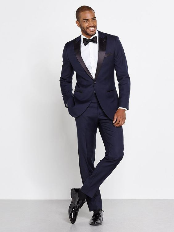 What color shoes with a navy blue tuxedo? - Quora