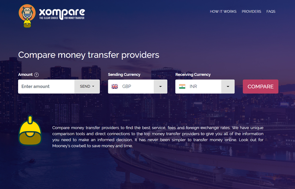 Use Xompare To Compare Leading Money Transfer Providers Real Time Rates And Fees