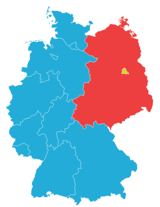 no one ever intended to split germany into west and east the split was gradual and seemingly unavoidable and essentially resulted from the complete lack