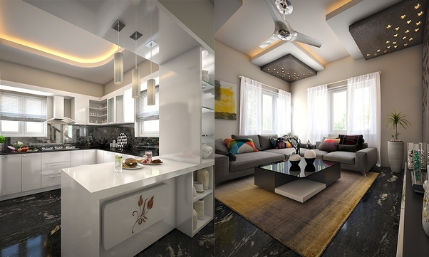 Which are the best interior design ideas for a 2BHK flat? - Quora