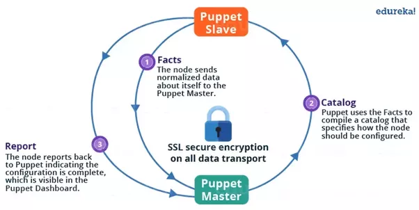 What are some good interview questions for a devops position quora puppet slave sends request to puppet master and puppet master then pushes configuration on slave refer the diagram below that explains the above asfbconference2016 Image collections