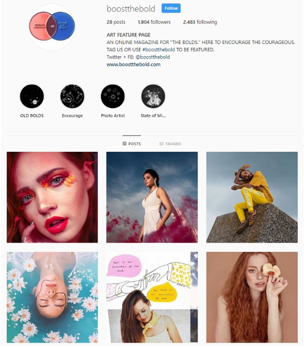screenshot of gaining more Instagram followers