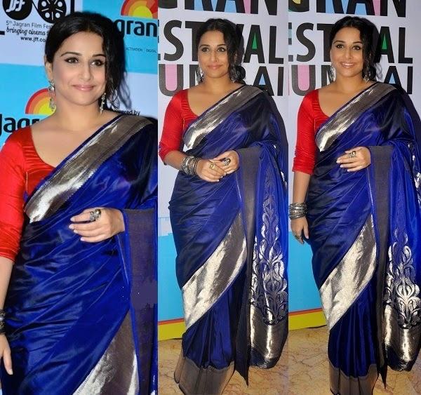 15ce8020fd2324 What color blouse suits a deep blue saree? - Quora