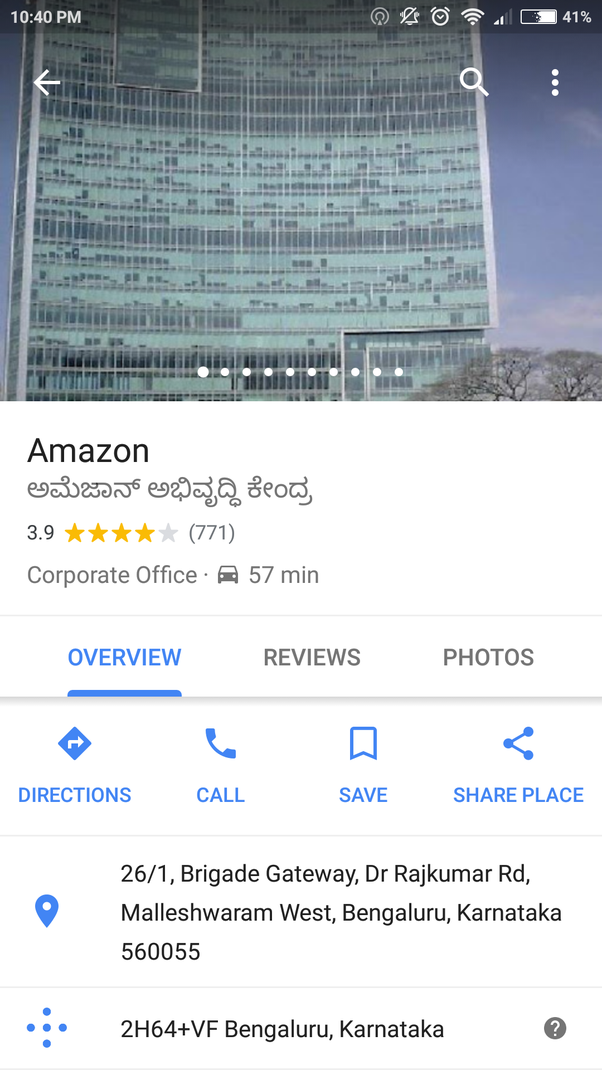 What Is The Amazon India Head Office Address In India Quora