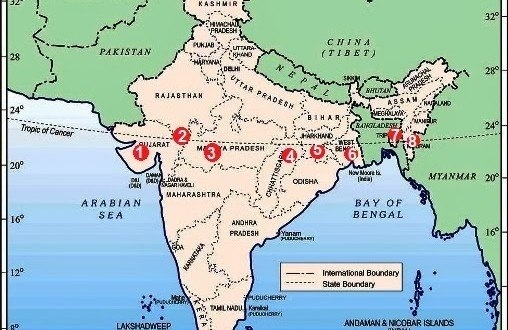 Tropic Of Capricorn On World Map.What Are The States In India That Faces The Tropic Of Capricorn Quora