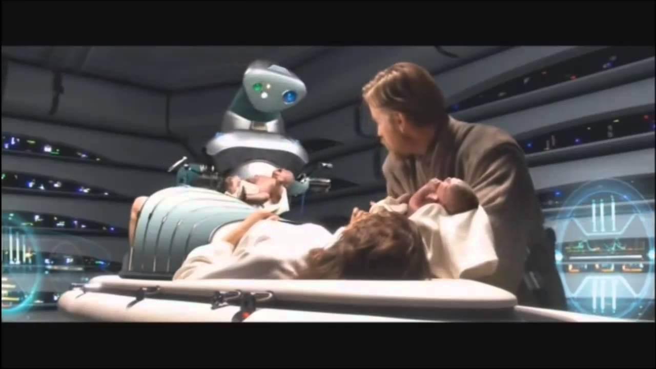 Resultado de imagem para star wars episode 3 luke and leia born