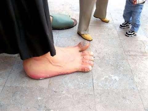 Man foot on penis