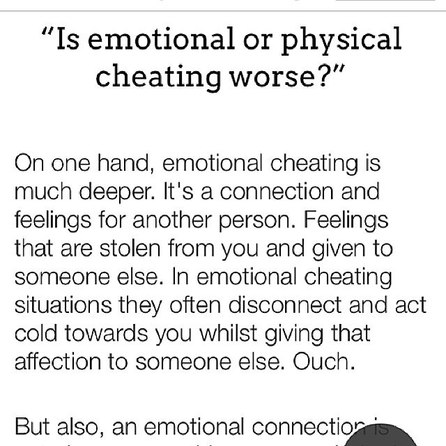 is emotional cheating really cheating