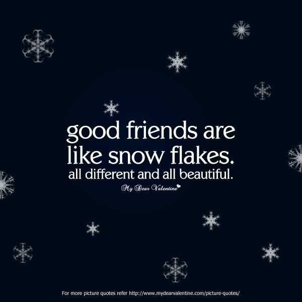 Captivating Quote 2: The Patterns On Snowflakes Are Different, Yet Every Flake Is  Beautiful In Its Own Way. Every Friendship Is Both Unique And Beautiful.