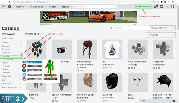 How Does One Enter The Id For Clothes On Roblox For Example I