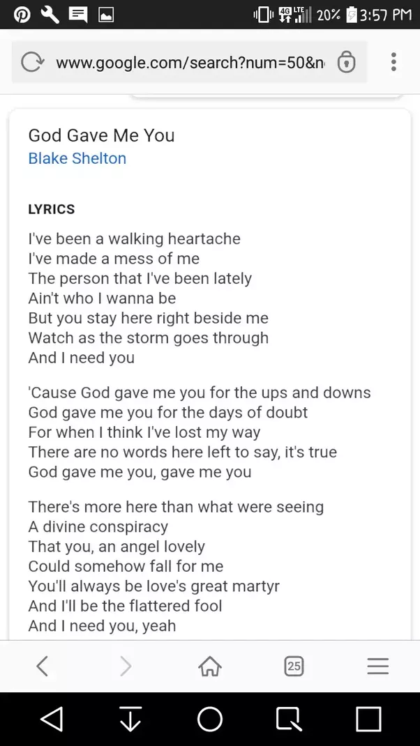 Lyric find my lyrics : Which song is it? The lyrics in between are 'I lost my way no ...