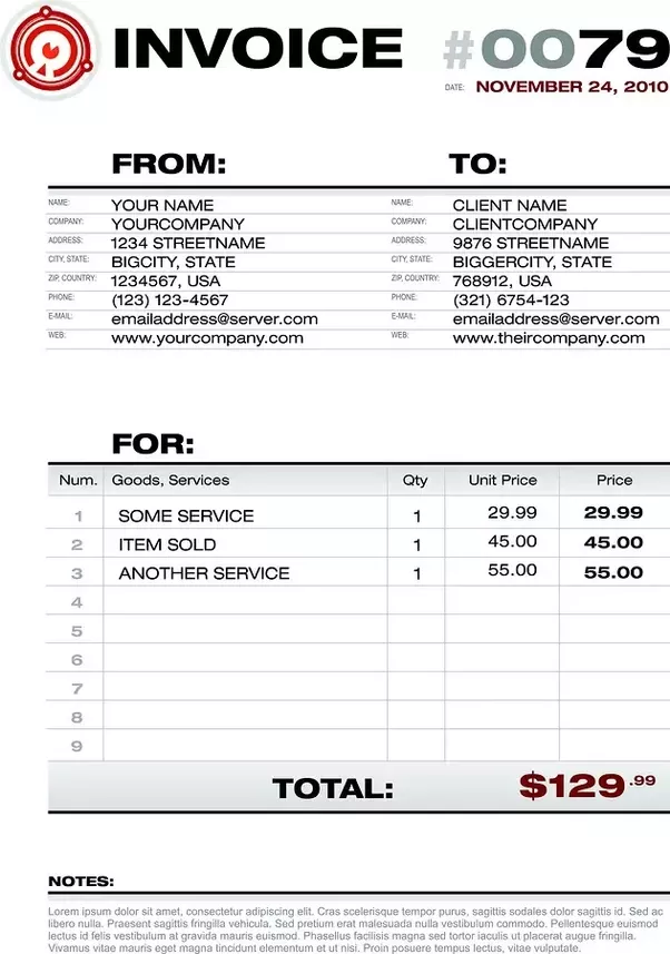 an invoice allows you the business owner or freelancer to keep track of your business transactions and make sure you get paid see an example below - Invocie
