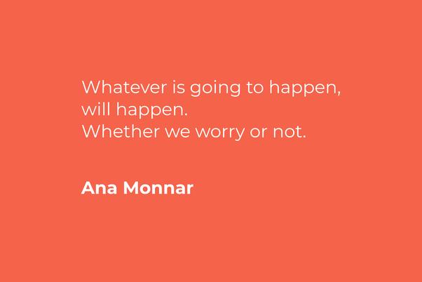 Tidak usah terlalu khawatir dengan kehidupan