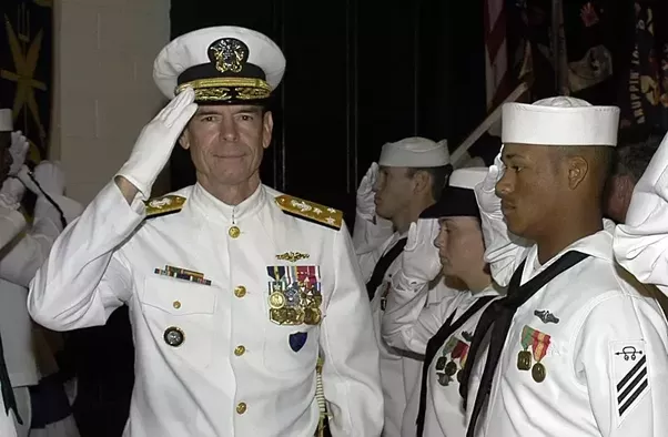 Navy service dress white ribbons