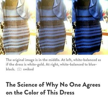 Blue and black or white and gold dress news