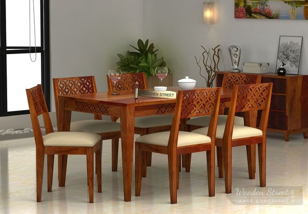 Looking For Best Quality Perfect Wooden Dining Table Set? Then Find An  Amazing Collection Of 6 Seater Dining Table Online Available At 60% Discount  + Extra ...