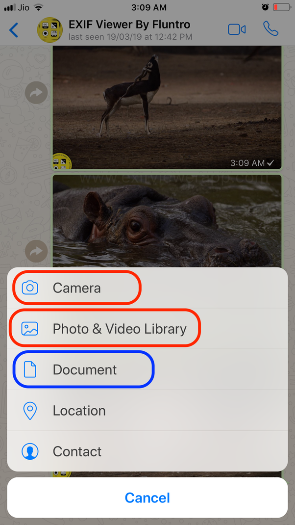 Do pictures sent on WhatsApp keep their EXIF data? - Quora
