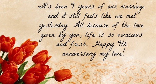 9th Wedding Anniversary Gifts For Husband: What Is A Good Wedding Anniversary Wish?