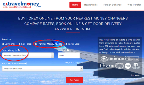 Send Money From India To Kenya