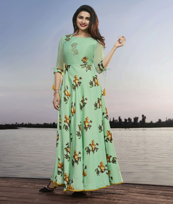 297b88a34c Go floral this Diwali. Dresses with vibrant floral prints. Floral dresses  make an elegant choice for stylish dressing. Update new dress collection  for with ...