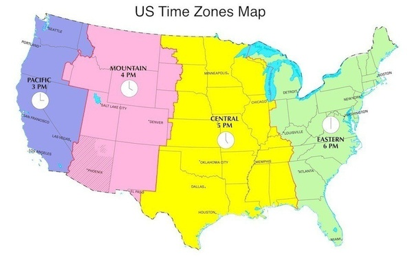 Alaska And Hawaii Are Further West Than The Mainland Us So Fall Into 2 Other Time Zones Closer To Their Meridian Alaskan Zone