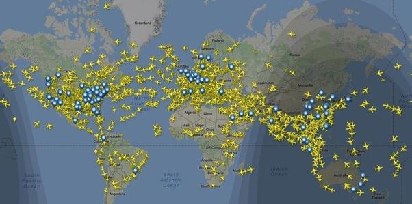Cuántos Aviones Vuelan A La Vez En El Mundo Quora