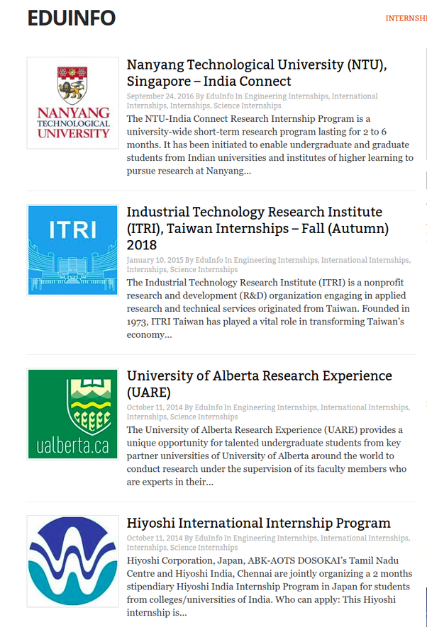 What Are Some Good Winter Research Internships Opportunities Abroad For An Indian Computer Science Student Quora