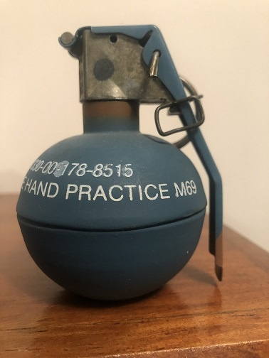 What are the safeties for a regular fragmentation grenade