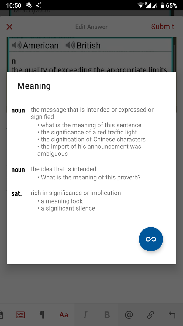 I want to know an app which on selecting a word while