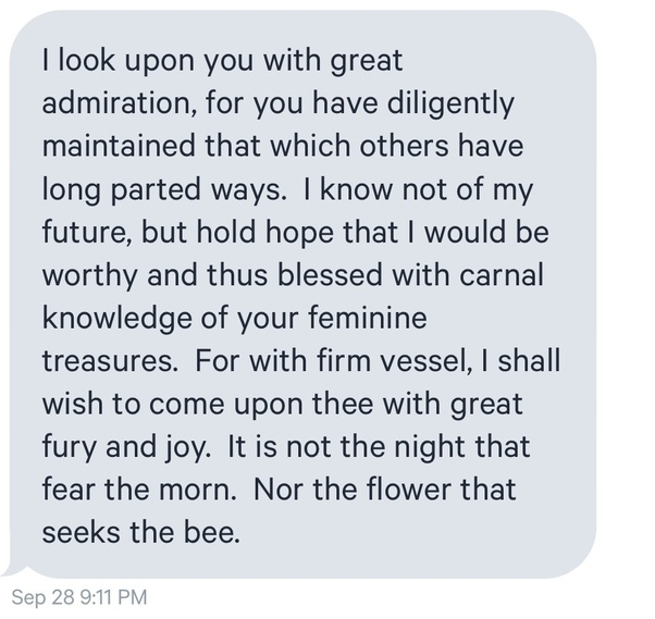 Whats a good dating site message